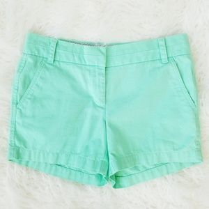 J.Crew Mint Green Chino Shorts